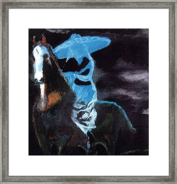Amazzone Notturna Framed Print