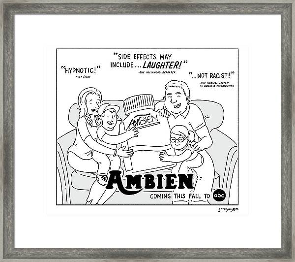 Ambien Coming This Fall To Abc Framed Print