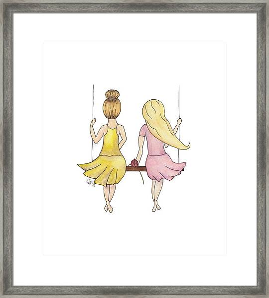 Amelia And Lillian Framed Print