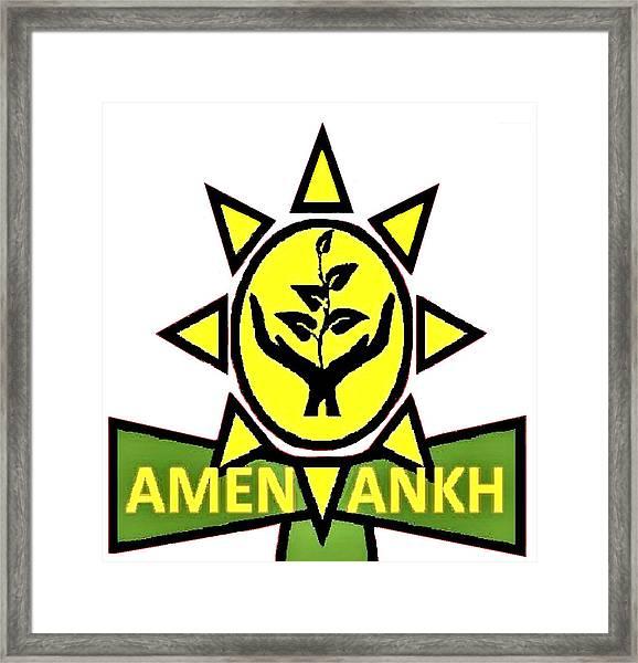 Amen Ankh Framed Print