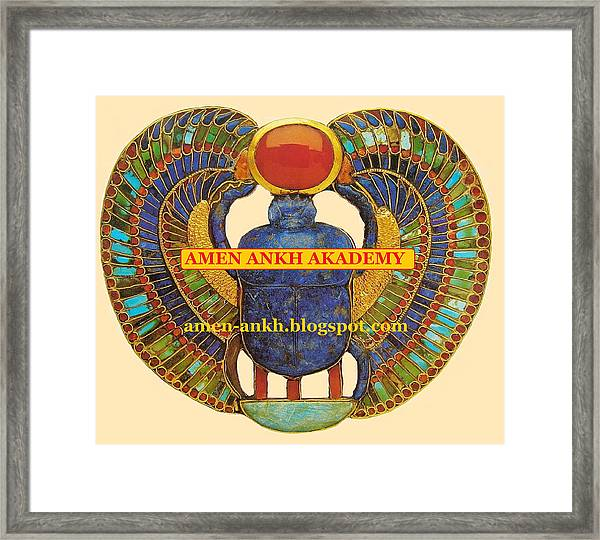 Amen Ankh Akademy Framed Print