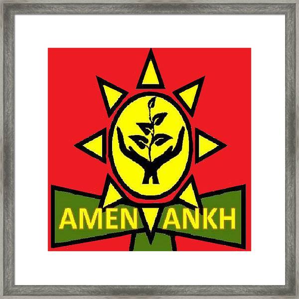 Amen Ankh Sunset Framed Print