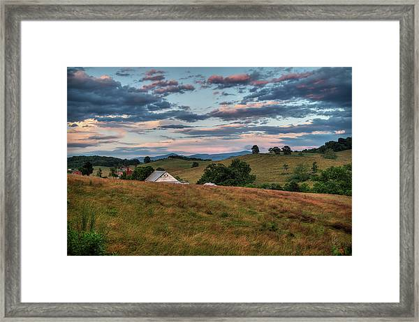 Framed Print featuring the photograph America - Hills Of Virginia 001 by Lance Vaughn
