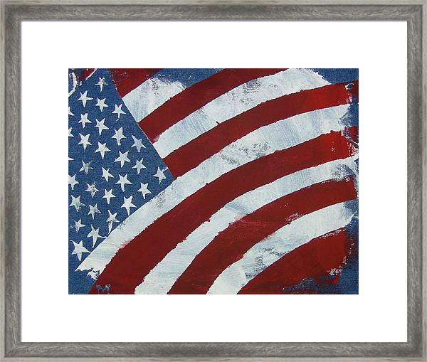 Framed Print featuring the painting America The Beautiful by Candace Shrope