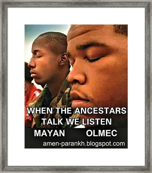 American Ancestars Framed Print