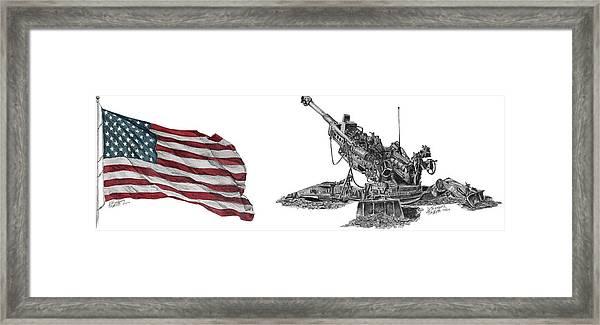 American Artillery Framed Print