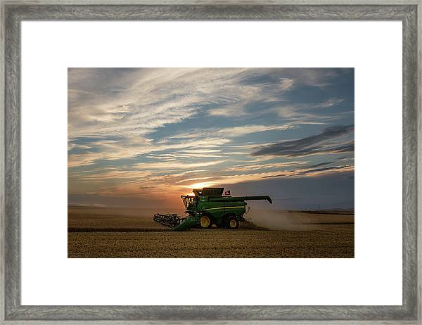 American Combine Framed Print