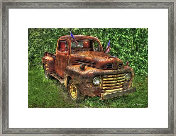 American Ford 1950 F-1 Ford Pickup Truck Art Framed Print