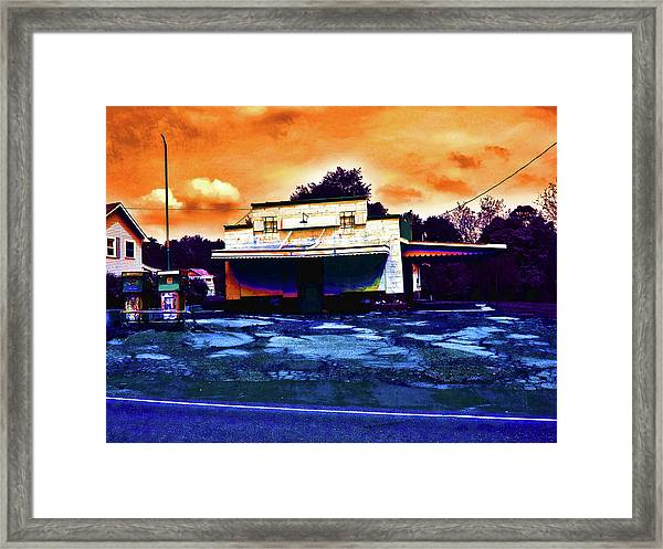 American Gas Framed Print by David A Brown