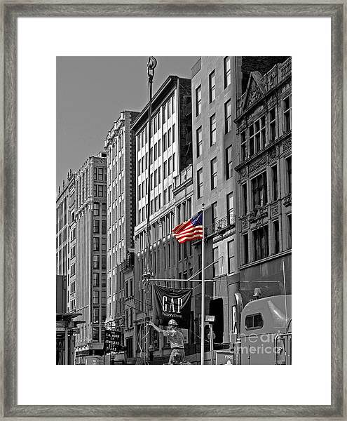 American Iron Worker Framed Print