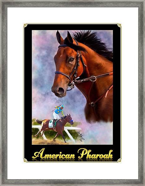 American Pharoah Framed Framed Print