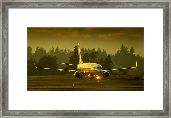 American Ready For Take-off Framed Print