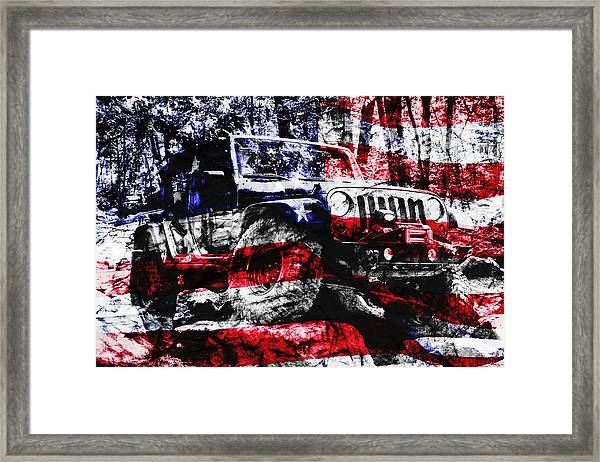 American Rock Crawler Framed Print
