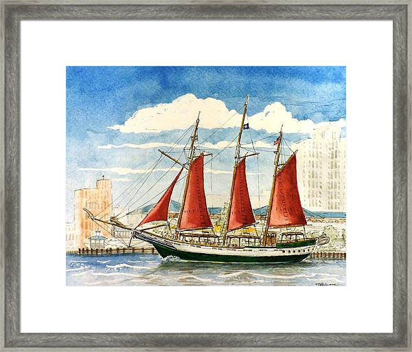 American Rover At Waterside Framed Print