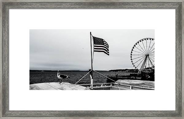 American Seattle Framed Print