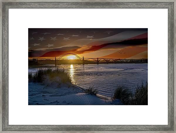 American Skies Framed Print