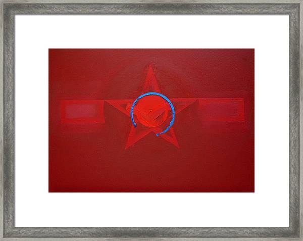 American Sky Blue Framed Print