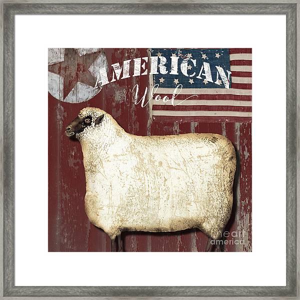 American Wool Framed Print