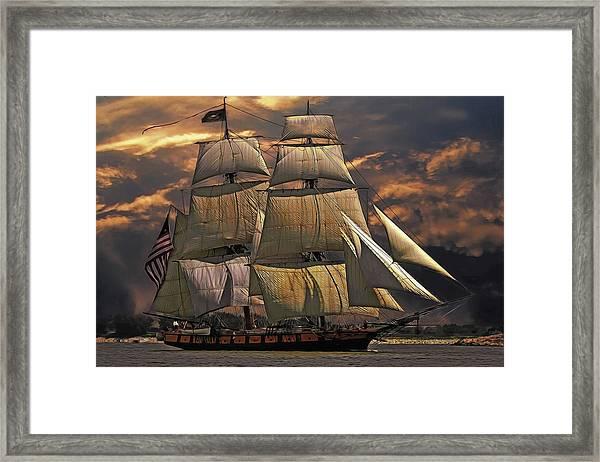 America's Ship Framed Print