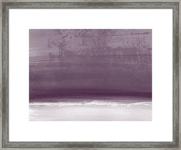 Amethyst Shoreline- Abstract Art By Linda Woods Framed Print