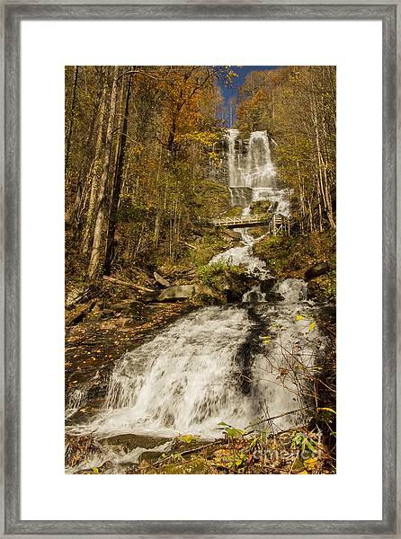 Amicola Falls Gushing Framed Print