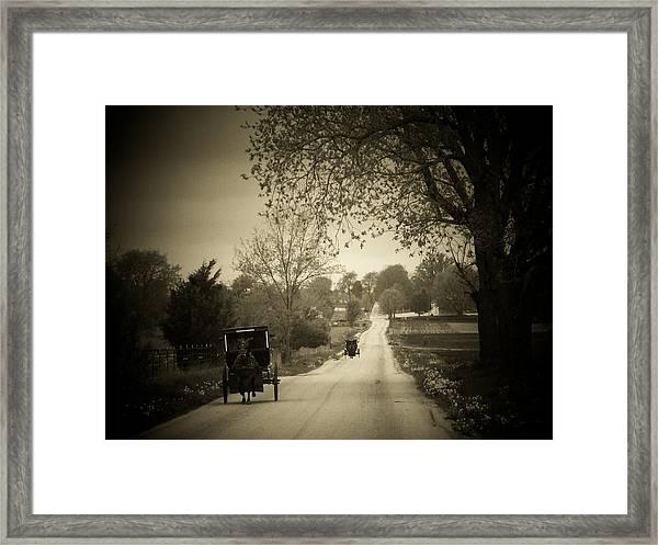 Amish Buggys Framed Print