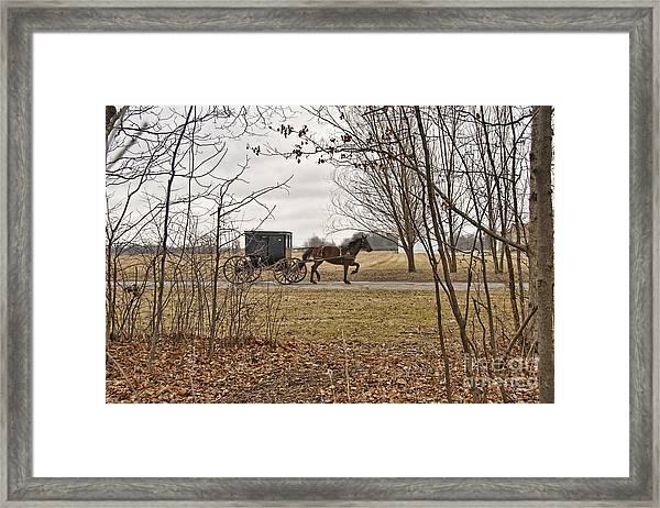 Amish Dreams Redone Framed Print