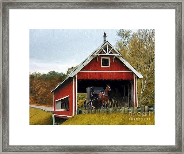 Amish Era Framed Print by Tom Griffithe