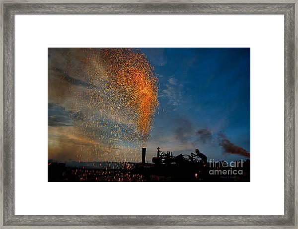 Amish Fireworks Framed Print