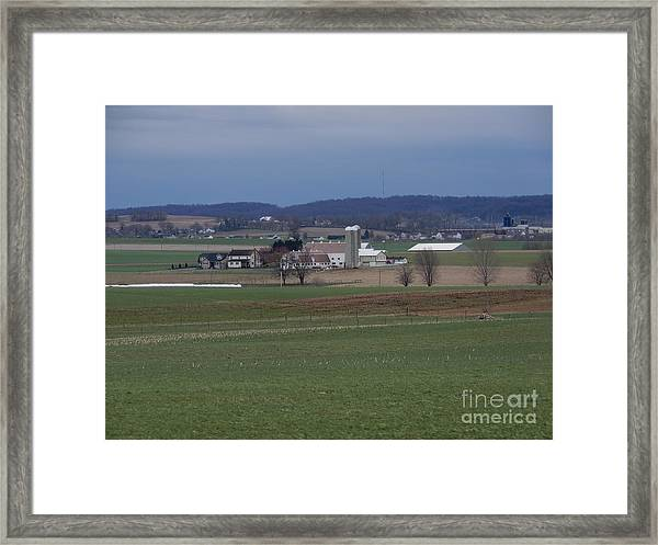 Amish Homestead 125 Framed Print