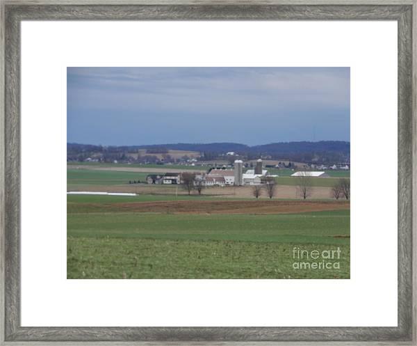 Amish Homestead 3 Framed Print
