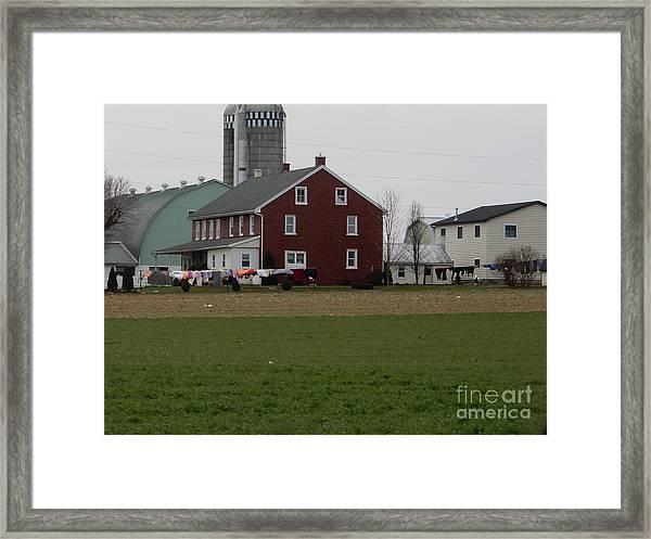 Amish Homestead 7 Framed Print