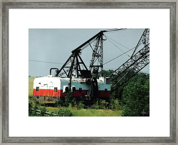 Abandoned Dragline Excavator In Amish Country Framed Print