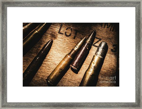 Ammo Supplies Framed Print