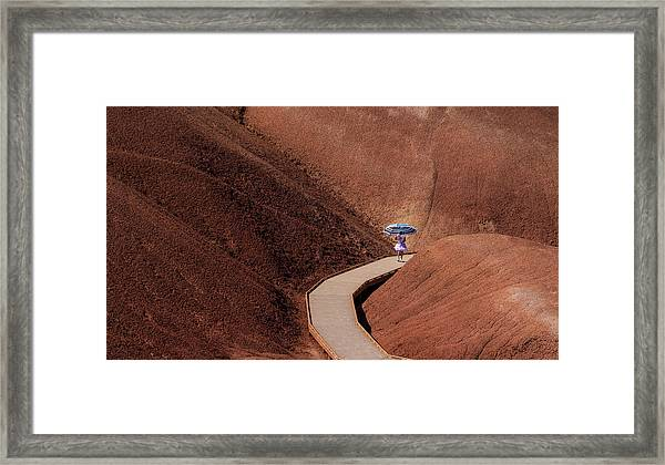 Among The Painted Hills Framed Print