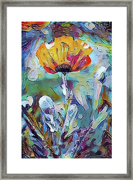 Among The Poppies II Framed Print