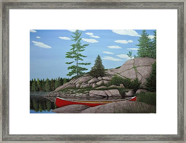 Among The Rocks II Framed Print