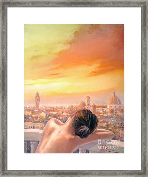 Amore Di Firenze Love Of Florence Framed Print