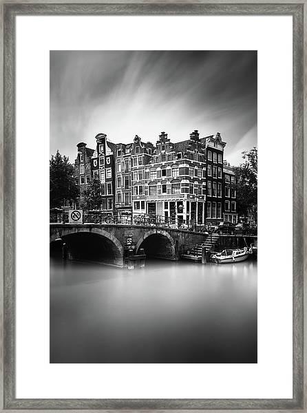 Amsterdam, Brouwersgracht Framed Print