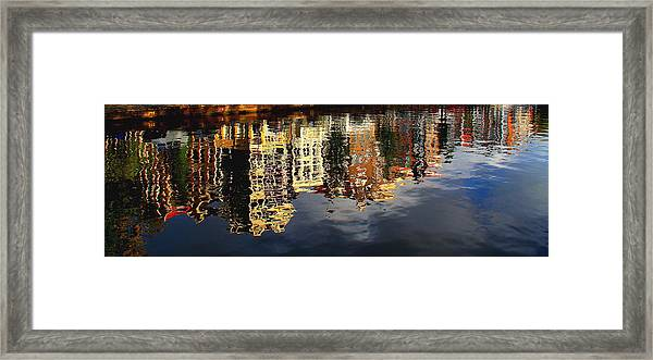 Amsterdam Canal Reflection Framed Print