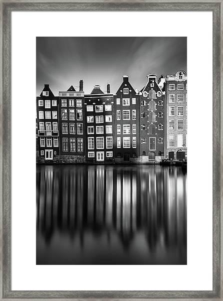 Amsterdam, Damrak II Framed Print