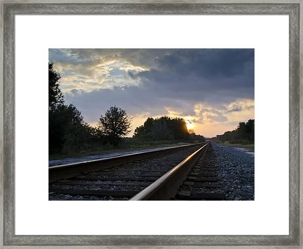 Amtrak Railroad System Framed Print