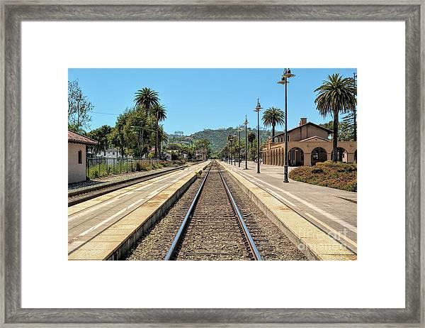 Amtrak Station, Santa Barbara, California Framed Print