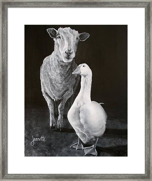 Amy And Gracie Framed Print