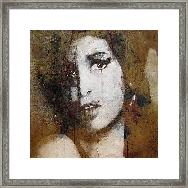 Amy Winehouse Love Is A Losing Game  Framed Print