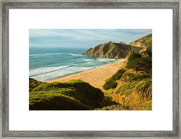 An Afternoon At The Beach Framed Print