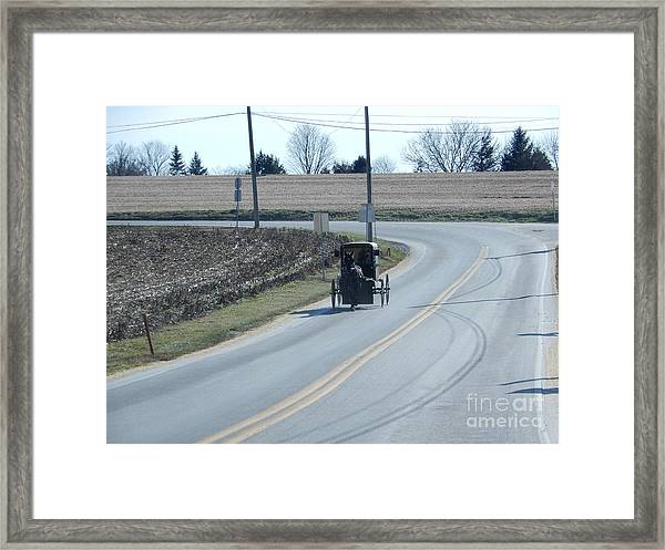 An Afternoon Buggy Ride Framed Print