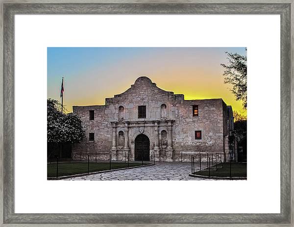 An Alamo Sunrise - San Antonio Texas Framed Print