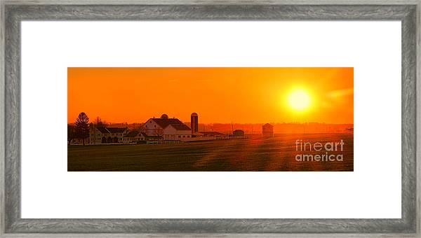 An Amish Sunset Framed Print