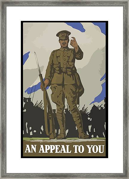 An Appeal To You Framed Print